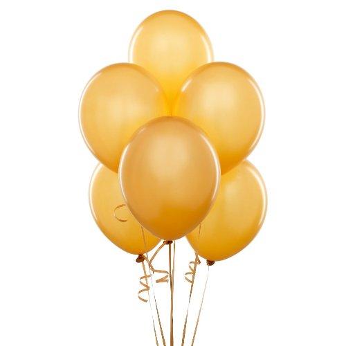 Balloon 12 inch Pearl 10pc Gold, Health Care Stuffs