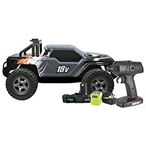 Uproar P3800 18V Lithium Ion One+ Compatible RC Truck with 2-Wheel Drive and 20 MPH Top Speed (Includes Ryobi P102 1.3 AH Battery and Ryobi P119 Charger)