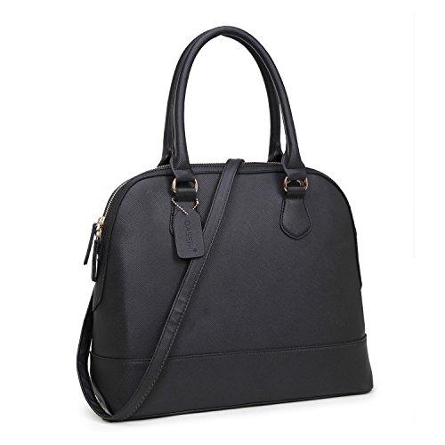 dasein-zip-around-structured-domed-satchel-handbag-purse-tablet-ipad-bag