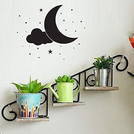 Ajcwhml Luna Creativa Pegatinas de Pared decoración para el hogar salón DIY decoración del hogar Pegatinas de Pared vinilos Adhesivos Decorativos Pared: Amazon.es: Hogar