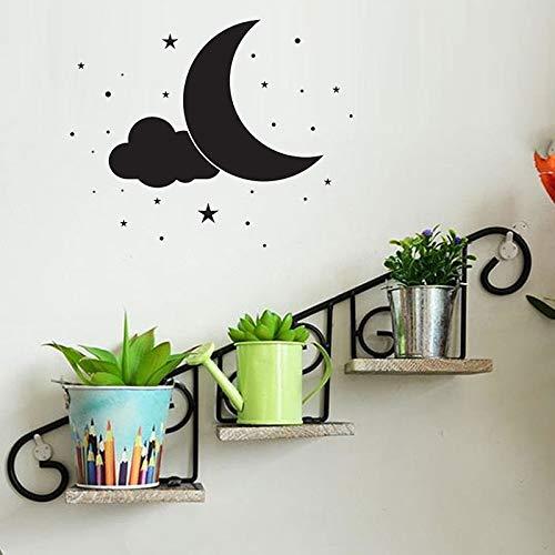 Creativo luna etiqueta de la pared decoración del hogar sala de ...