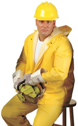 MCR Safety 20034XL 3-Pc Suit w/ Detachable Hood & Bib Pants, Yellow, 4XL by River City (Detachable Bib Safety Pants)