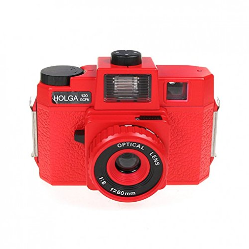 Holga 120GCFN Red with Glass Lens and Colored Flash Film Camera by Holga