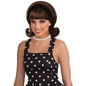 Forum Novelties 50s Brown Wig with Detachable Headband for Adults