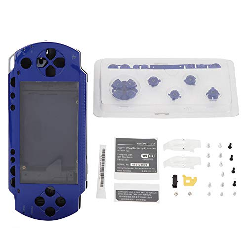 - Diyeeni Full Housing Shell Case Repair Replacement Housing Set with Buttons Kit Compatible for Sony PSP 1000 Playstation Portable 1000 Core Game Console(Blue)