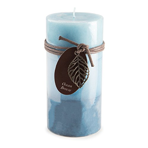 Darice DYN3511 Ocean Breeze Layered Pillar Candle 3