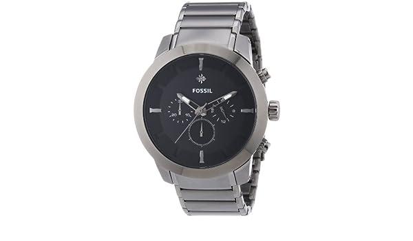 Fossil 0 - Reloj de Cuarzo para Hombre, con Correa de Acero Inoxidable, Color Gris: Fossil: Amazon.es: Relojes