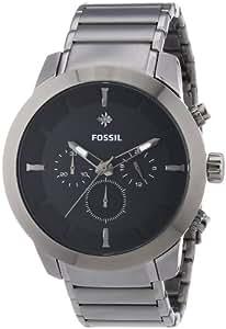 Fossil  0 - Reloj de cuarzo para hombre, con correa de acero inoxidable, color gris