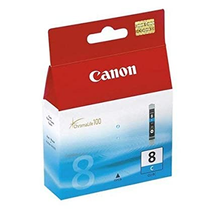 Canon CLI-8 C Cartucho de tinta para Impresora de Inyeccion Pixma MX700,850-MP500,510,520,530,600,610,800,810,830-iP3300,3500,4200,4200x,4300,4500,520...
