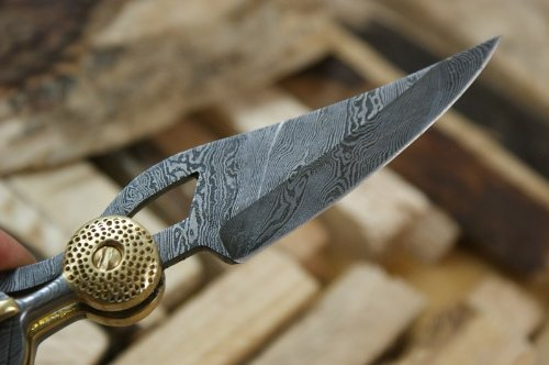 Knife King ''Baby Blue'' Custom Damascus Handmade Folding Knife. Comes with a sheath. by Knife King (Image #2)