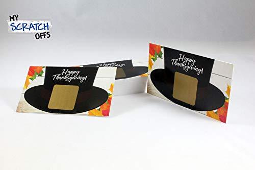 Thanksgiving Pilgrim Hat Scratch Off Game Card - 25 pack - My Scratch Offs
