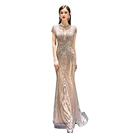 BINGQZ Party Dress/High-end Evening Dress Hand-made Beading Formal Dress The Party Gorgeous Mermaid Gown Prom dresses