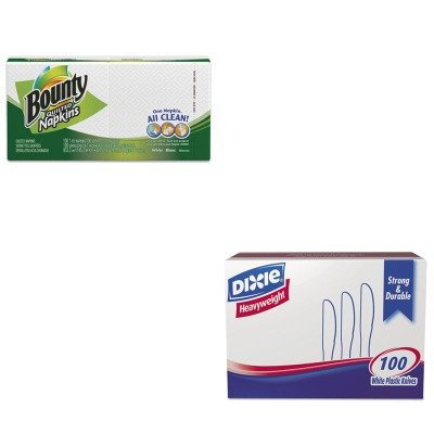 KITDXEKH207PAG34884PK - Value Kit - Procter amp; Gamble Professional Quilted Napkins (PAG34884PK) and Dixie Plastic Cutlery (DXEKH207)