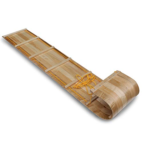 - Flexible Flyer Wood Toboggan. Snow Sled Adults & Kids, 6'