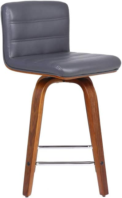 Phoenix Home Grey Faux Leather Counter Height Barstool