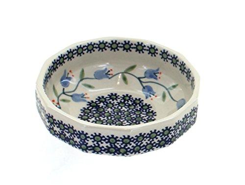 (Blue Rose Polish Pottery Tulip Small Angular Bowl)