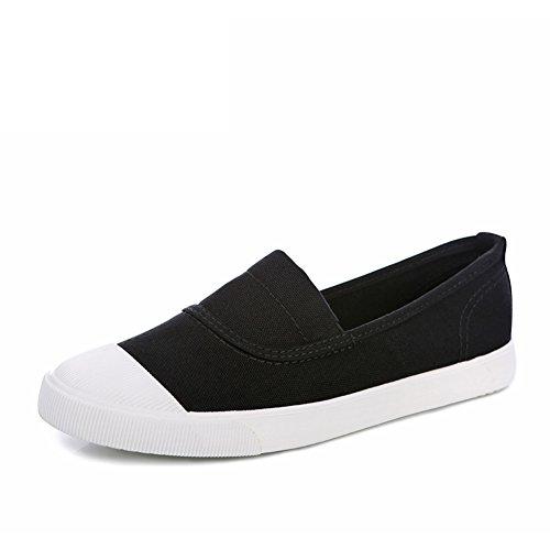 Respirable para ayudar a la gente perezosa en primavera, verano, zapatos mujer/Alpargatas de Shell-dedo del pie B
