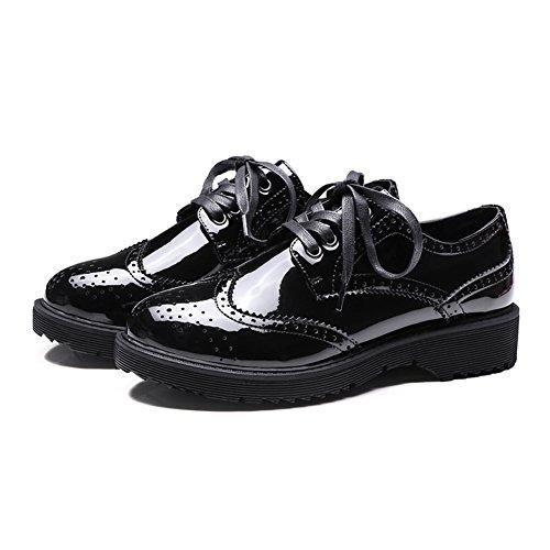 Inglaterra en zapatos de primavera/Academia viento correa casuales zapatos/Zapatos de charol A