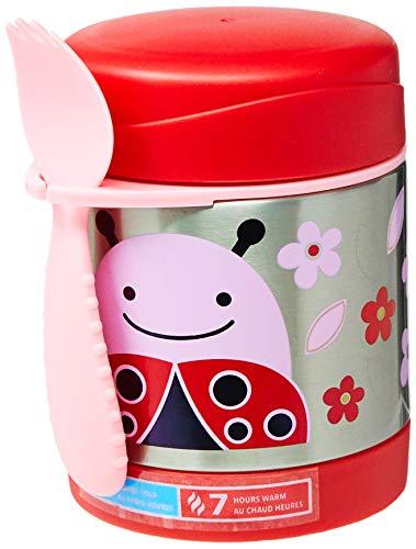 Ladybug Spoon - Skip Hop Baby Zoo Little Kid and Toddler Insulated Food Jar and Spork Set, Multi, Livie Ladybug