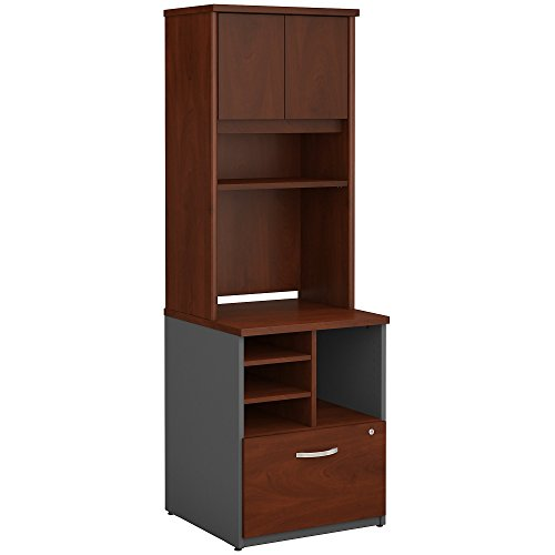 Bush Business Furniture Series C 24W Piler Filer Cabinet with Hutch in Hansen Cherry by Bush Business Furniture