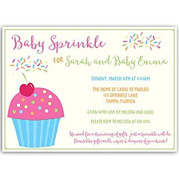 amazon com baby sprinkle invitations second baby it s a girl