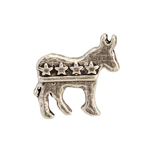 Donkey Pin Lapel Democrat (Democratic Donkey Pewter Pin, A1032MP)