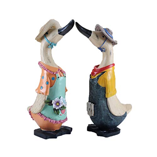 YHY Gift Ornament Home Decorations Resin Creative Ornaments Animal Duck Crafts Wine Cabinet Porch Furnishings Gifts (Color : 12.515.738CM)