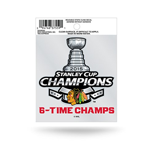 Chicago Blackhawks Official NHL 3.5 inch Small Static Cling Window Car Decal by Rico Industries 887674