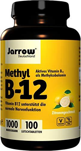 레몬 맛, 100 조각, 1ce_e Jarrow 독일 메 틸 B12 1000 µ g 사탕 팩 (1 x 100 단위)
