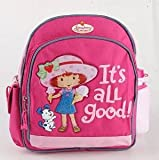 """Small Backpack - Strawberry Shortcake - w/Water Bottle 12"""" New 333192"""