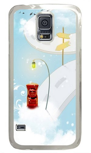 Mailbox In The Sky Custom Samsung Galaxy S5 Case and Cover - Polycarbonate - Transparent