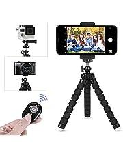 LOETAD Treppiedi per Cellulare Octopus Flessibile Cavalletto di Bluetooth Registrabile Supporto per iphone Samsung Telefono Smartphone Treppiedi Fotocamera per GoPro