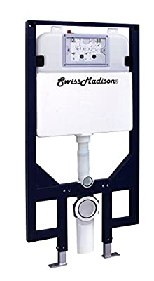 "Swiss Madison SM-WC424 Concealed In-Wall Toilet Tank Carrier System Wall-Hung Dual Flush, 23"" L"