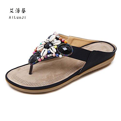pies desgaste clip de 39 sandalias 18 playa playa bohemio mujer antideslizante palabra Zapatos zapatillas de nuevo verano fFA4Upqx