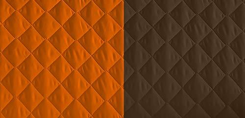 Lucena Cantos - Cubre Sofá Reversible, (Naranja/Choco, 3 Plazas)