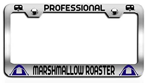 Makoroni - PROFESSIONAL MARSHMALLOW ROASTER Camper Ch Steel License Plate Frame, License Tag Holder