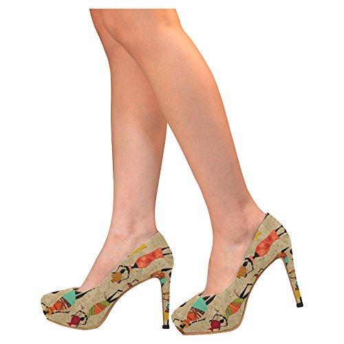D-story Flamingo Damesschoenen Sexy Stiletto Hoge Hak Pumps Veelkleurig13