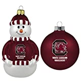 NCAA South Carolina Fighting Gamecocks 2-Pack Snowman and Ball Ornament Set