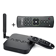 Android TV Box , MINIX NEO U1 Android TV Box Amlogic S905 64-Bit Quad-core 2GB/16GB Super HD 4K 3D & Full 2160p H.265/HEVC TV Box Streaming Media Players with A2 Lite Air Mouse Remote Control