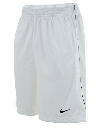 New Nike Men's Layup Shorts White/White/Black/Black Large