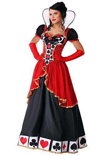 Women's Plus Size Supreme Queen of Hearts Costume 1X Red -