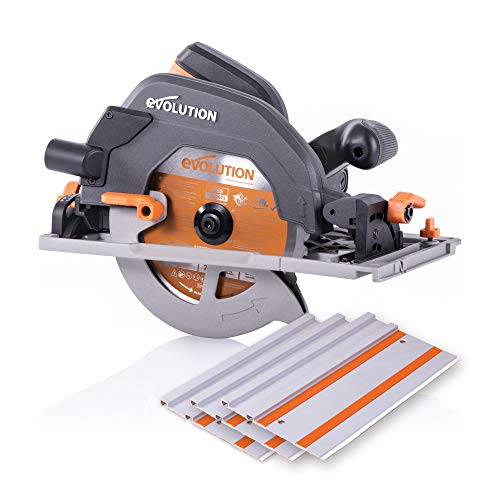 "Evolution Power Tools R185CCSX 7-1/4"" Multi-Material Circular Track Saw Kit"