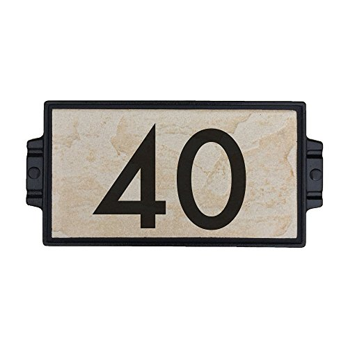 Sandy Stone Address Plaque 2 by Craftsman House Numbers