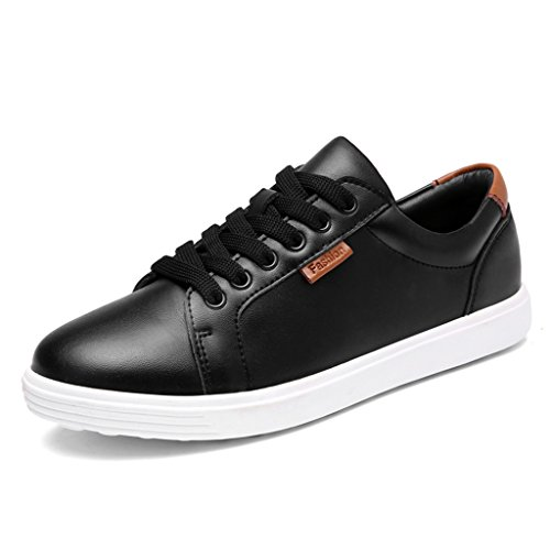 HWF Zapatos para mujer Zapatos planos de mujer primaverales solos Zapatos de placa blanca Zapatos de mujer de estudiante ( Color : Negro , Tamaño : 37 ) Blanco