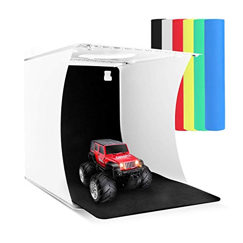 Zenic Photo Studio Box, Mini Portable Folding Photography Photo Studio Shooting Tents with Dual LED Lights and 6 Backdrops by zenic (Image #8)