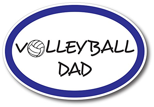 Volleyball Dad Car Magnet Decal 4 x 6 Oval Heavy Duty for Car Truck SUV -