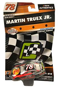 NASCAR 2018 Wave 7 Edition Authentics 2017 Martin Truex #78 Bass Pro Shop Tracker Boats Homestead Raced Win Edition 1/64 Scale Diecast Action Racing with Bonus Magnet Checkered Flag