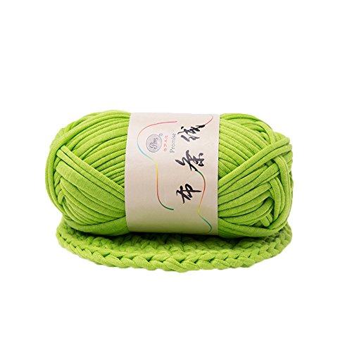 (preliked Hand-Knit Woven Thread Thick Basket Blanket Braided DIY Crochet Cloth Fancy Yarn (Fruit Green))