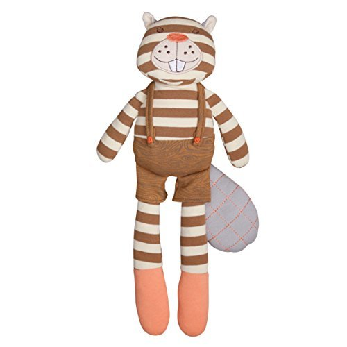 Organic Farm Buddies Plush Toy - Buster Beaver, 14 inches