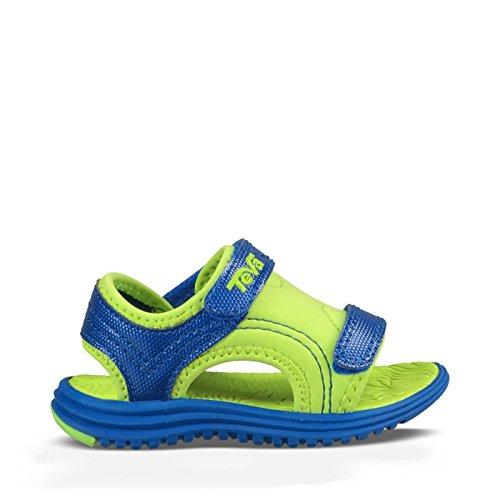 Teva Psyclone 6 Sandal (Toddler/Little Kid), Blue/Lime, 5 M US Toddler